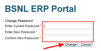 BSNL ERP New Login Password