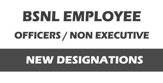 BSNL employee designations new