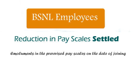 BSNL Pay Scale issues settled