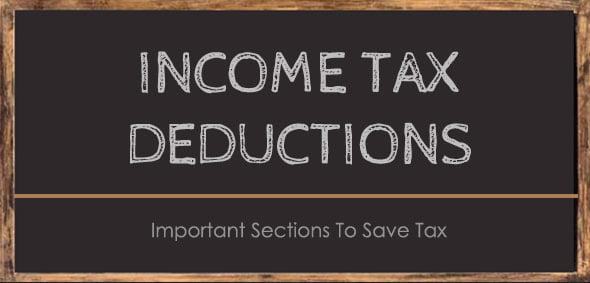 Income Tax Deduction Section 80 C D E