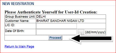 BSNL GTI Policy LIC ID