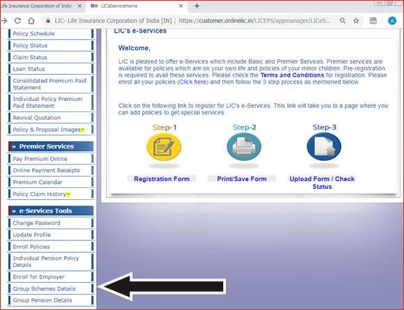 Register BSNL GTI Policy at LIC Login Portal
